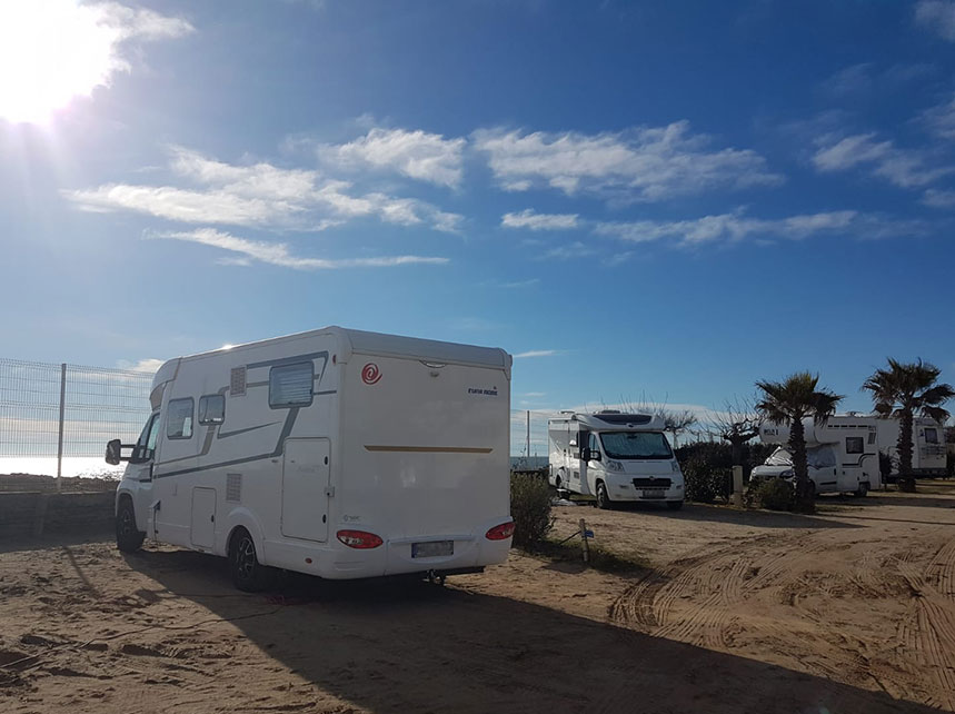motorhome parking with sea view at vias beach