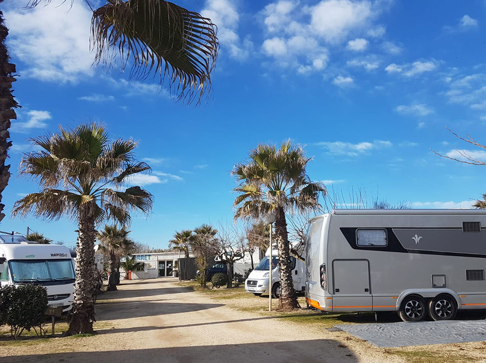 nice camper van area with palm trees vias