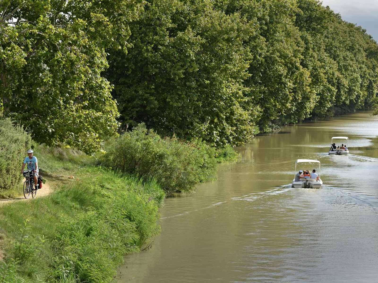 balade vélo et location bateau canal du midi
