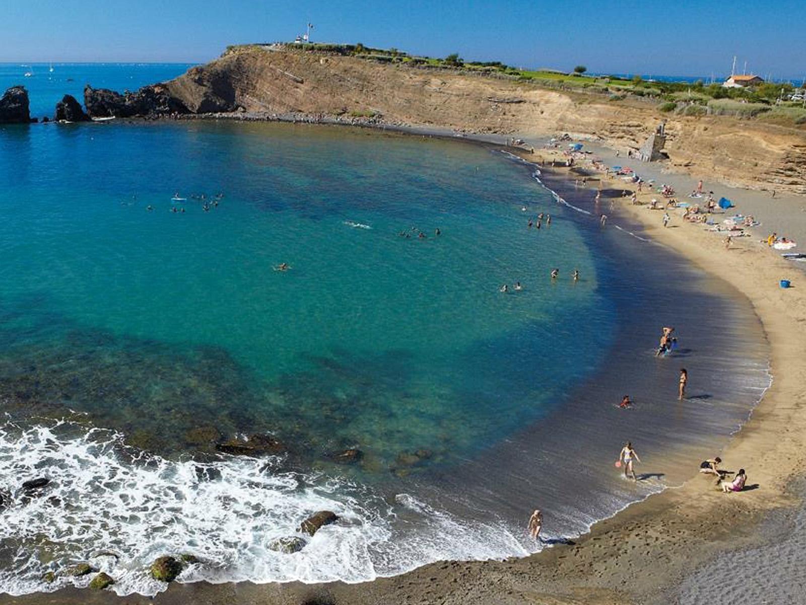La plage de la Grande Conque au Cap d'Agde