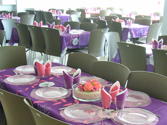 Table de réception anniversaire