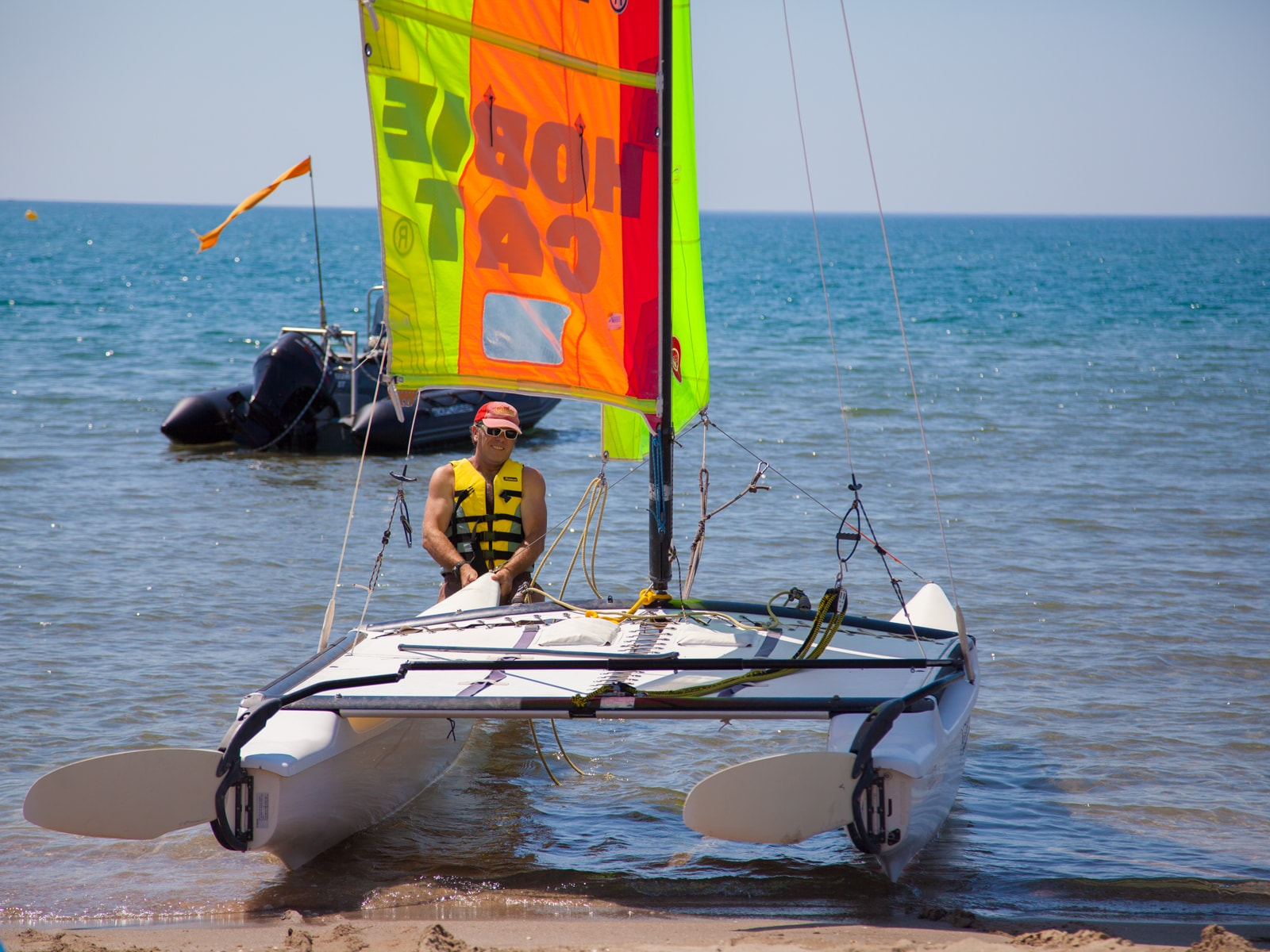 catamaran à vias plage