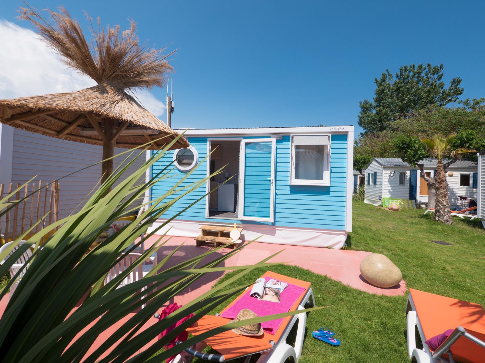 Cottage style californien bleu