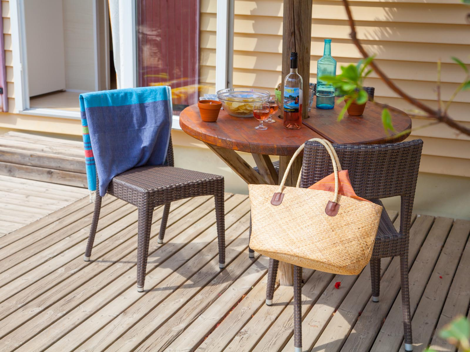 Table et chaises de camping