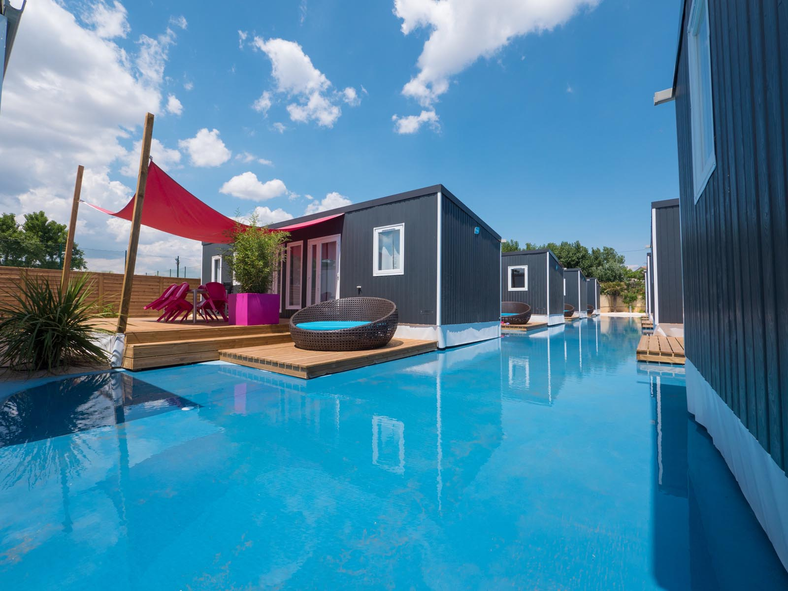 Quartier Marina, mobilhomes premium et piscine