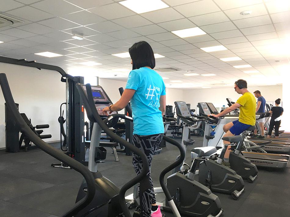 stepper salle de sport avec machine cardio camping farret
