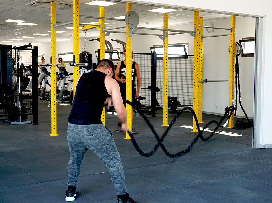 cordes crossfit, cordes ondulatoires, battle rope