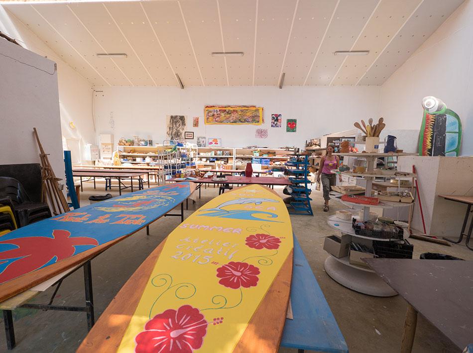 peinture décoration du camping atelier créatif planche de surf