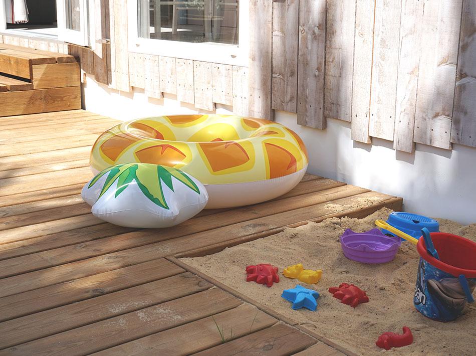 bouée ananas jeux de plage bac à sable