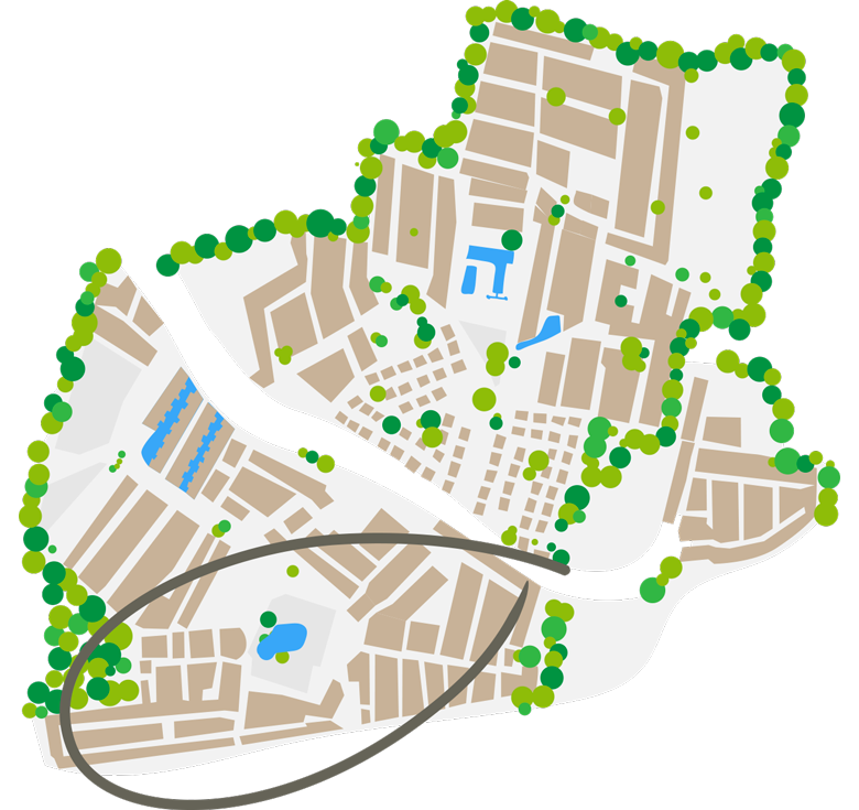 mappa del camping piazzole camping farret