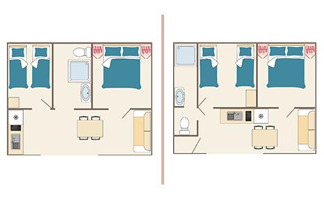 plan maison de vacance 4 personnes