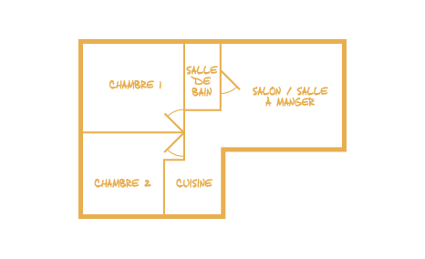plan cabane 4/5 personnes 2 chambres
