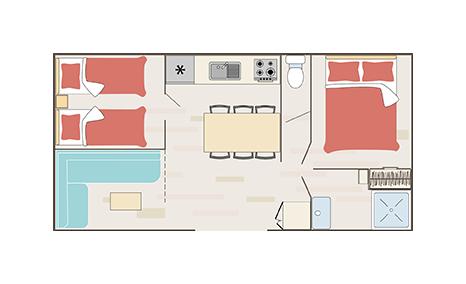Plan cottage quartier Santa Fé