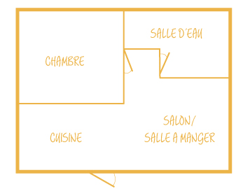 plan intérieur location 2 personnes california