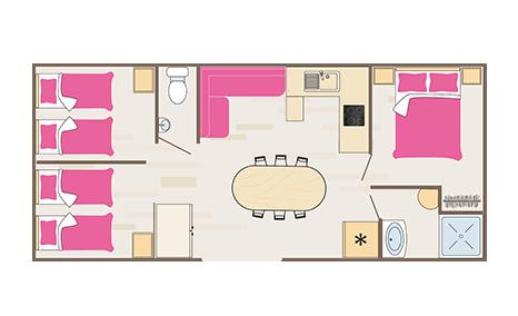 Plan cottage quartier Pacific