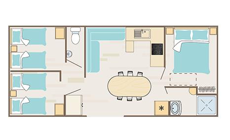 Plan cottage quartier Bali