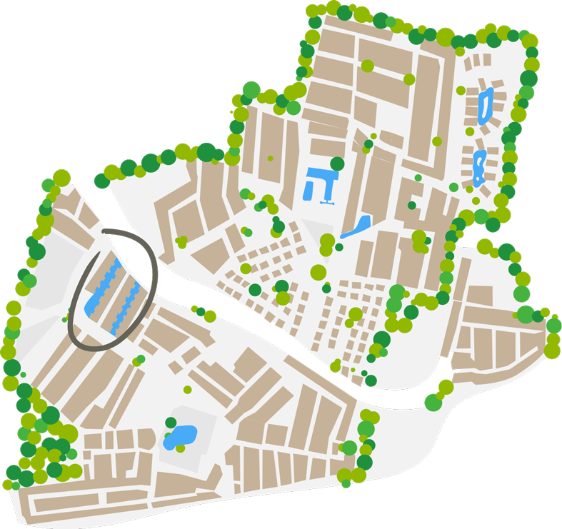 map cottage marina camping farret in vias