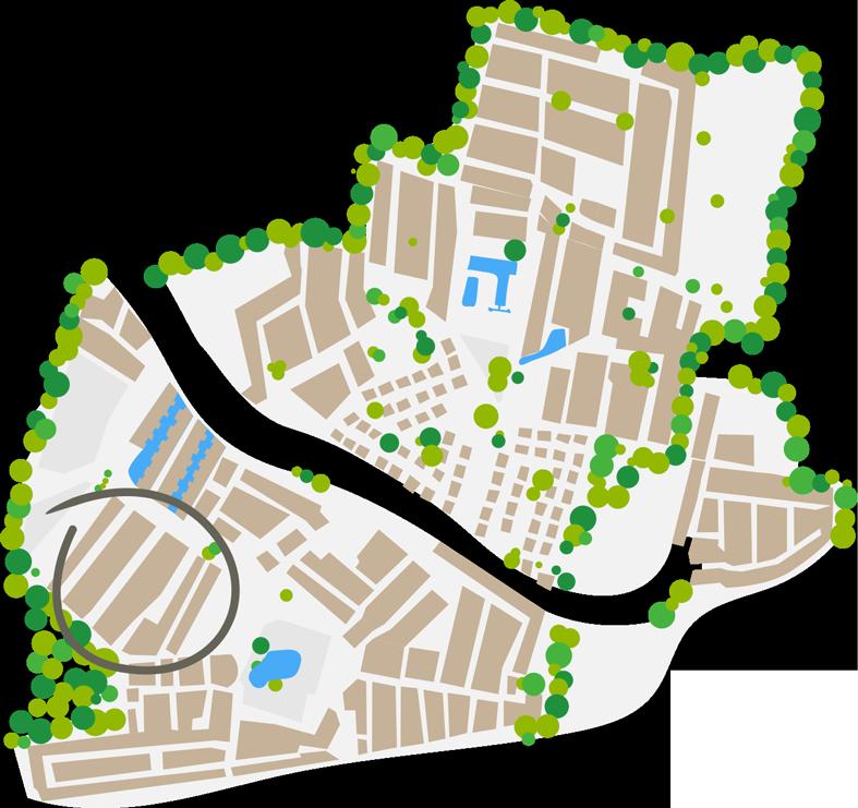 Plan du quartier California