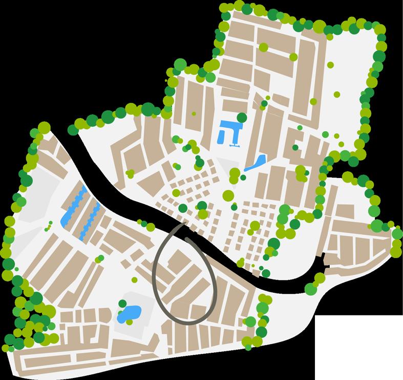 Plattegrond Côté Plage wijk camping farret in vias