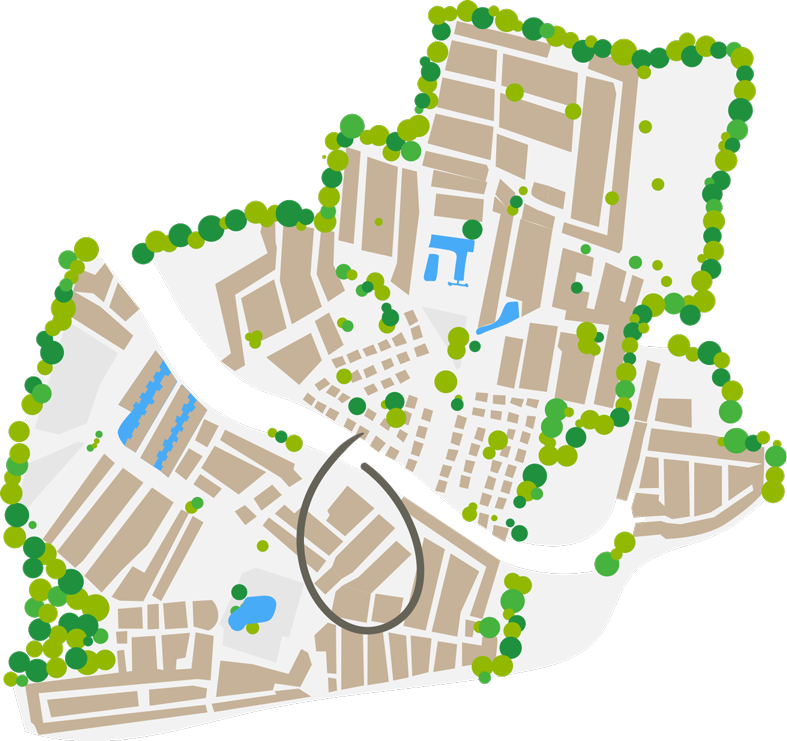 mappa dell' area Côté Plage camping farret a vias