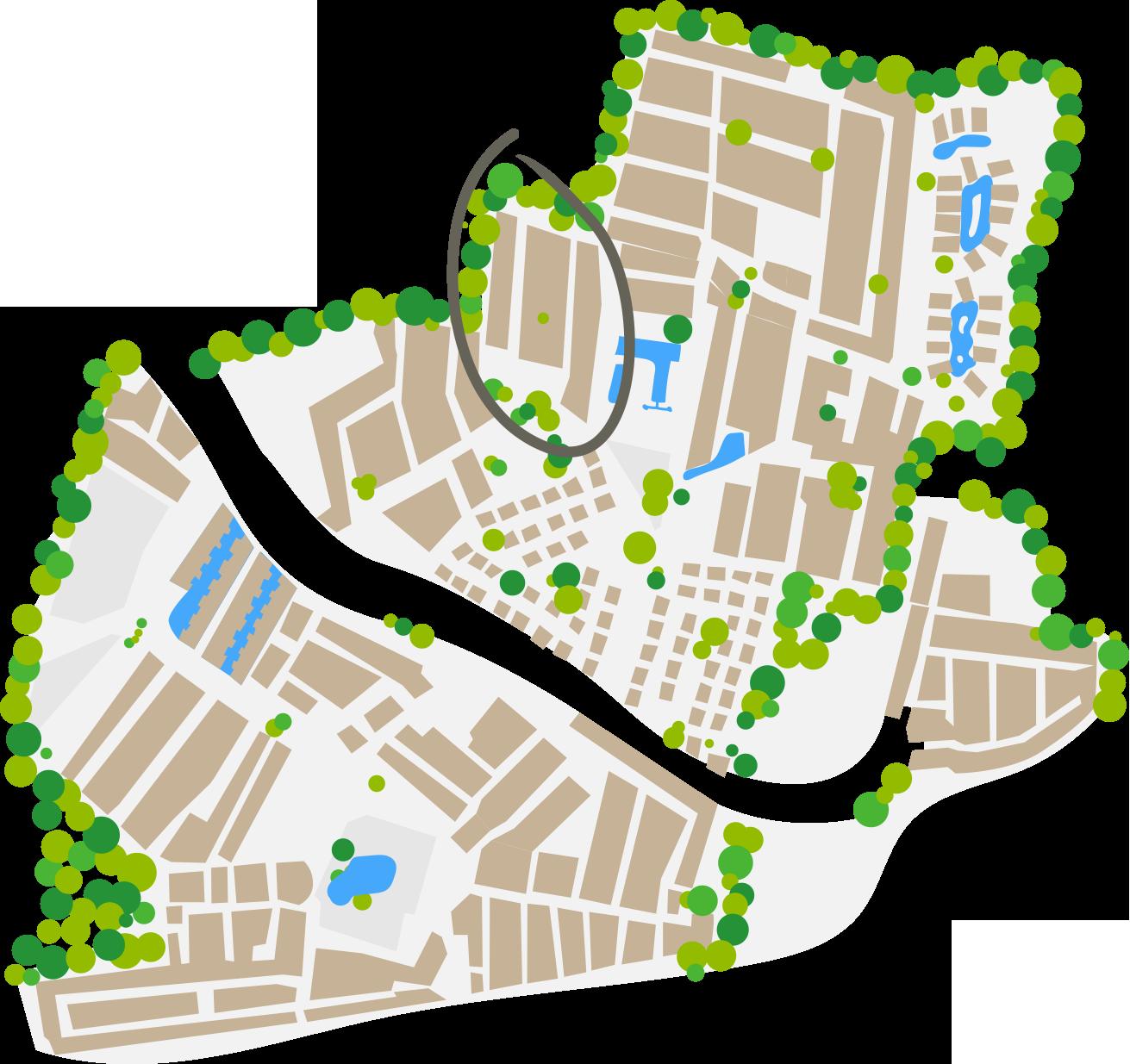 Plan du quartier Africa
