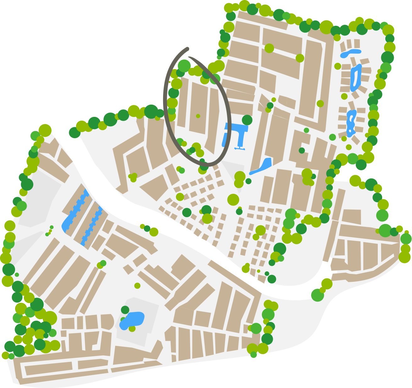 Plan vom Africa Viertel