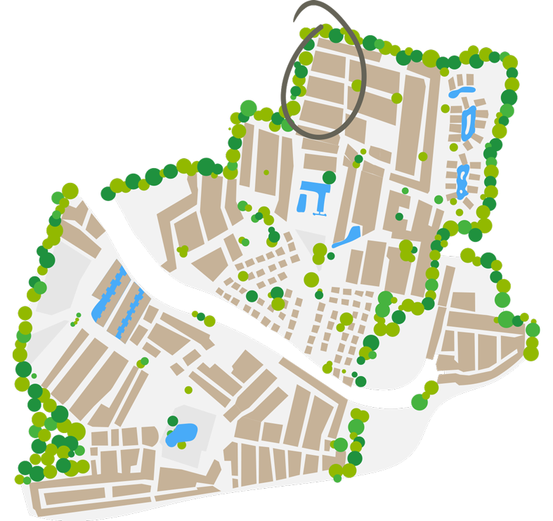 Plan du quartier Chardonnay
