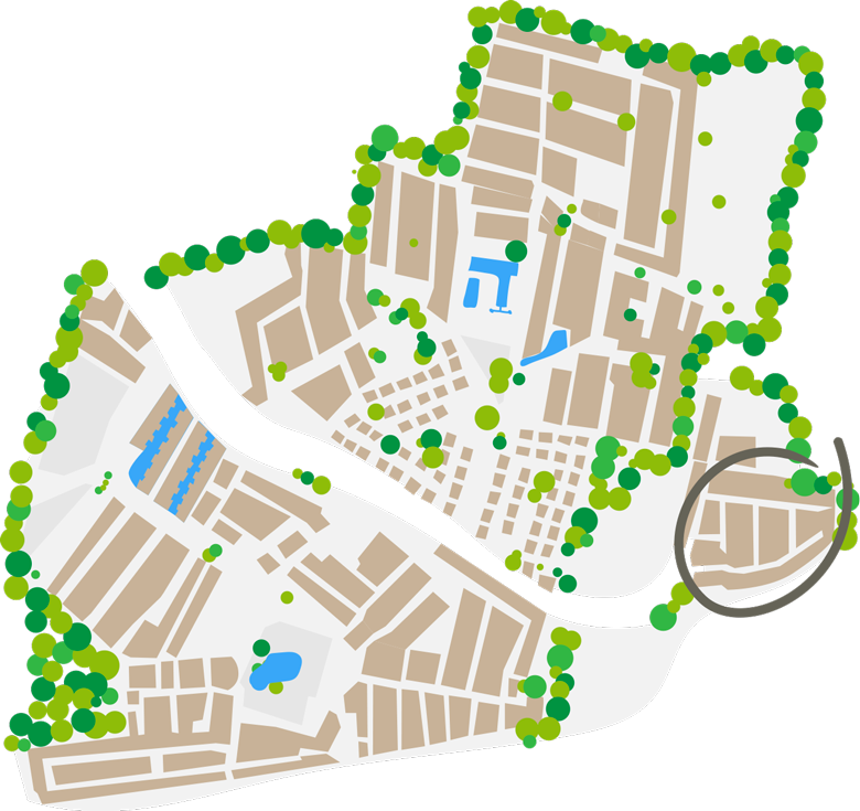 Mappa piazzole Beach Farret