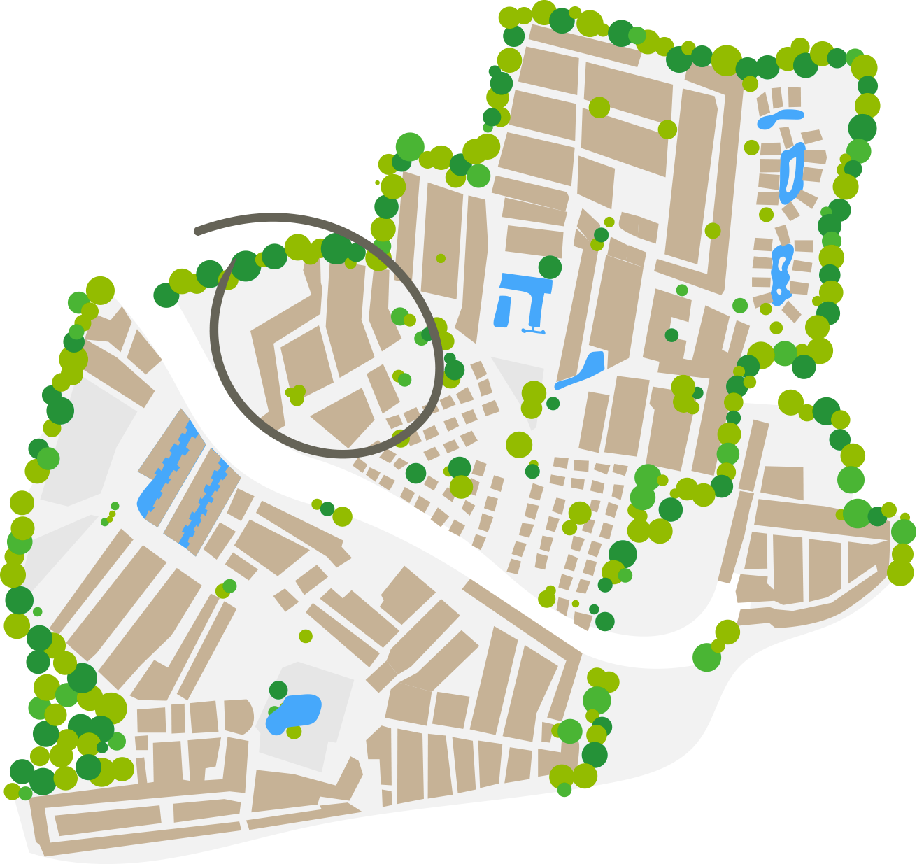 Plattegrond Santa Fé wijk