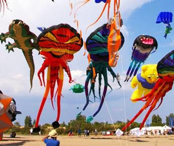Festival du vent à Portiragnes : des cerfs-volants géants et colorés envahissent le ciel